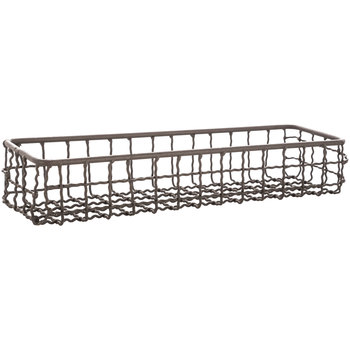 Long Rectangle Iron Wire Basket